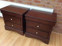 Gorgeous Pair Of Bedside Drawers, New / Boxed