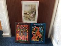For Sale 3 x 1000 Piece Jigsaw Puzzles - suit animal Lovers - 1 owner - all pieces in boxes