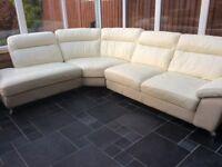 DFS 'Dice' corner sofa in cream and beige