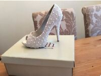 Customised Peep toe Bridal Shoes size 5