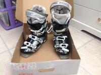 Tecnica black and silver ski boots