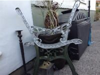 Vintage bench ends solid cast iron very old heavy
