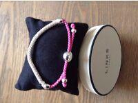 Links of London Effervescence Sterling Silver & Pink Cord Bracelet