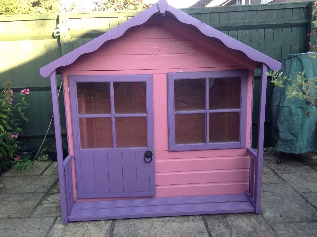 Kitty Wooden Pink And Purple Playhouse In Swindon