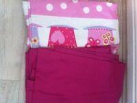 2 pairs of pink girls Next curtains