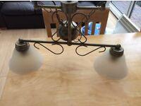 Twin pendant ceiling light