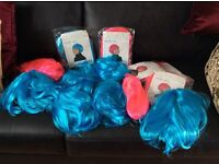 Fancy dress Wigs Blue and Pink