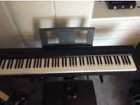 Nearly new Yamaha electric/digital piano for sale.