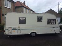 5 berth light weight Avondale touring caravan with 3 bunks in end bedroom