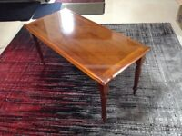 Wooden Glass Topped Coffee Table in Excellent Condition