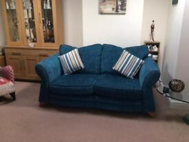 Pair of sofas - one sofa bed one normal sofa