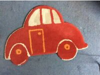 Red car rug