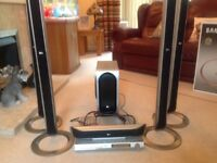 LG Surrond Sound System and DVD Player