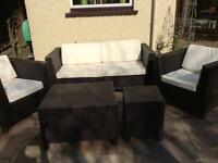 5 piece rattan furniture