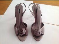Coast sandals & clutch bag to match ( beige- rose)