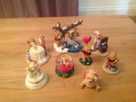 Pooh Bear Ornaments Selling all 8 together