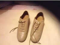 Leather dance shoes size 5 1/2