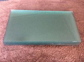 12 Glass Shelves, 46cm x 25cm, used