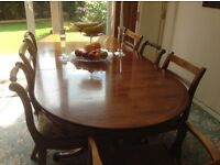 Yew Dining table and chairs free to good home!!