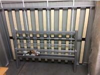 Double Bed Frame Colour Silver Grey