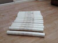 12 unopened rolls of Laura Ashley 'Cottonwood White' wallpaper