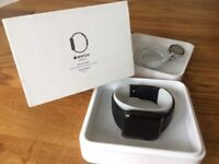 Apple Watch Series 2 42mm Stainless steel black strap with generic milanese strap immaculate condit