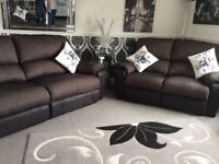 3 seater manual seater, 2 seater electric recliner, manual recliner chair and storage footstool