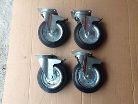 4 heavy duty wheel casters
