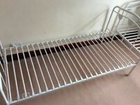 Two Single White Metal Bed Frame (heart design)