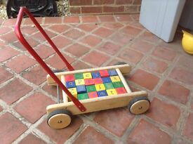 Trolley Wooden Childs play