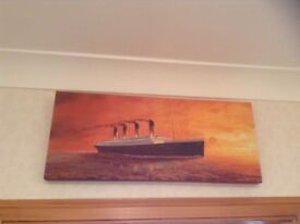 Titanic on canvas