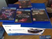 playstation VR bundle with 4 games as new