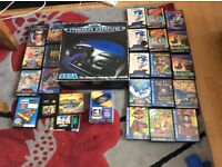 Boxed sega mega drive 1 with 25 games and multiplayer .