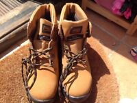 Brand new men's work boots, size 10, tan/brown