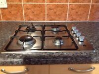 Four burner gas hob and electric oven