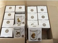 Joblot Bulk Wildlife Animal Leonardo Collection Fine China Mug Cup Deer, Squirrel, Fox and Cub Baby