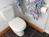 Toilet and single wall radiator