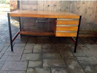 RETRO DESK WITH METAL FRAME - CAN DELIVER