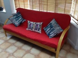 Futon Sofa Bed - excellent condition - used only twice as a bed. converts to standard double bed.