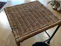Wicker armchair n coffee stool