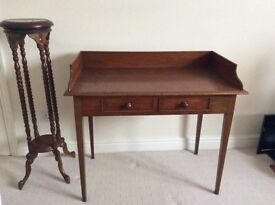 Victorian desk hall table and plant or display standd