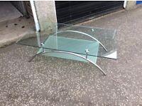 Glass coffee table ..