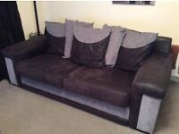 SCS 3 SEATER SOFA & CHAIR - EXCELLENT CONDITION - BLACK & GREY