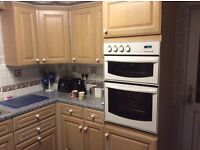 Full Kitchen fitted units with double oven and gas hob