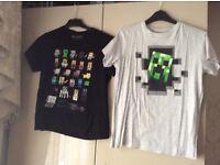Boys 13yrs minecraft t shirts