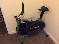 Confident fitness exercise bike and cross trainer