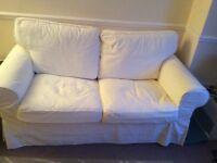 IKEA EKTORP TWO- SEAT SOFA (BEIGE)