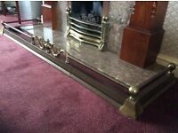 Bundle or Individual -Oak Effect Mantle, Marble Hearth and Brass Fire Surround - Excellent Condition