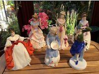 Six Royal Doulton large figures
