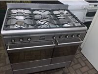 Stainless steel Gas cooker Range.90cm..Mint free delivery